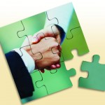 Puzzle with Handshake