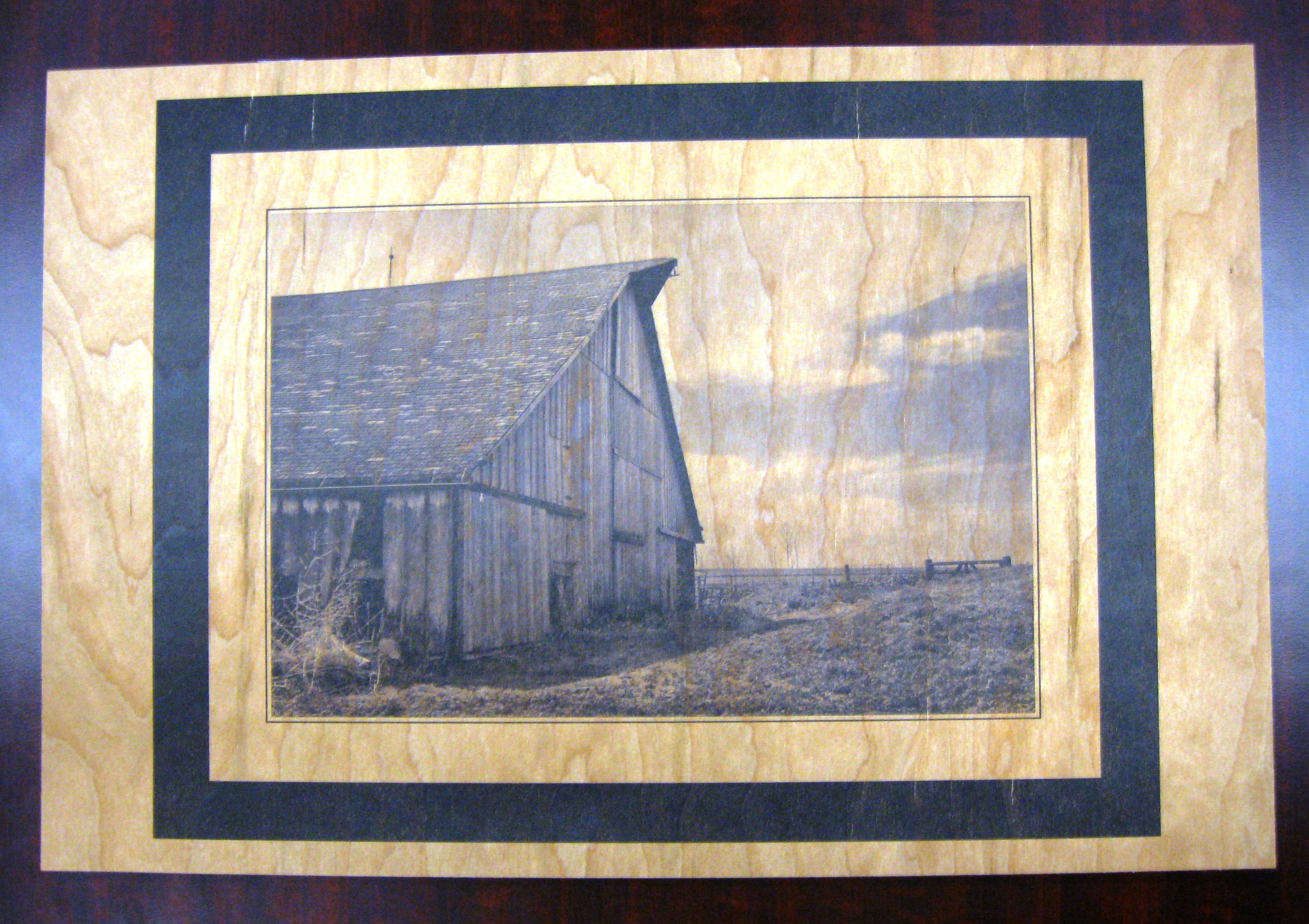 Barn on wood