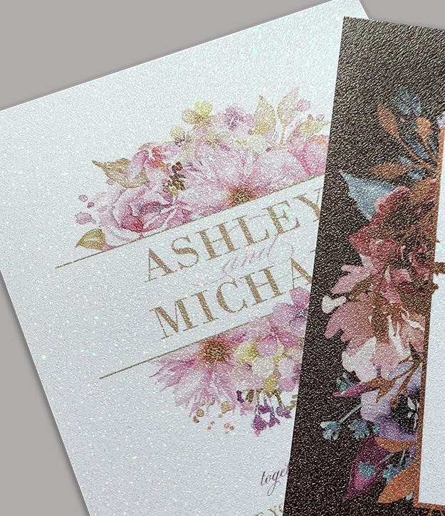 printable glitter wedding invitations