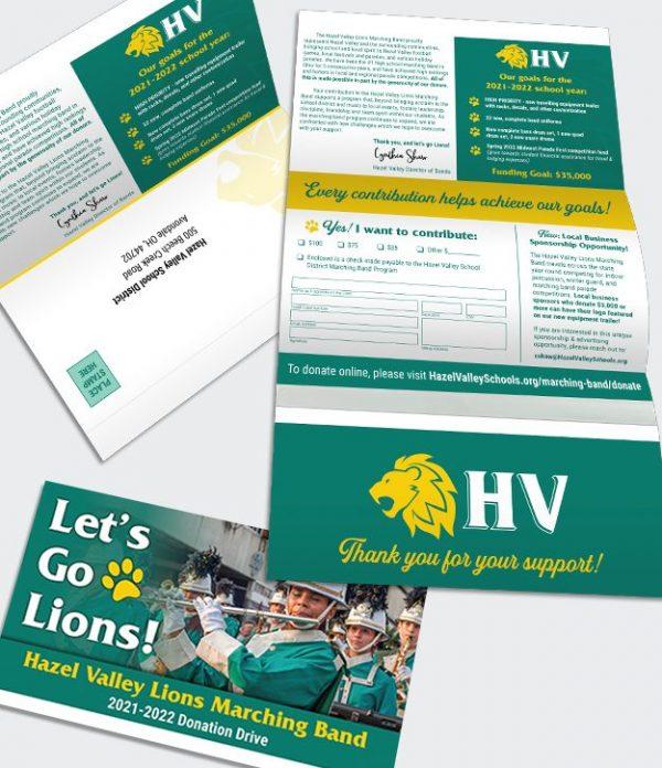 Fold N Go Return high school donation request