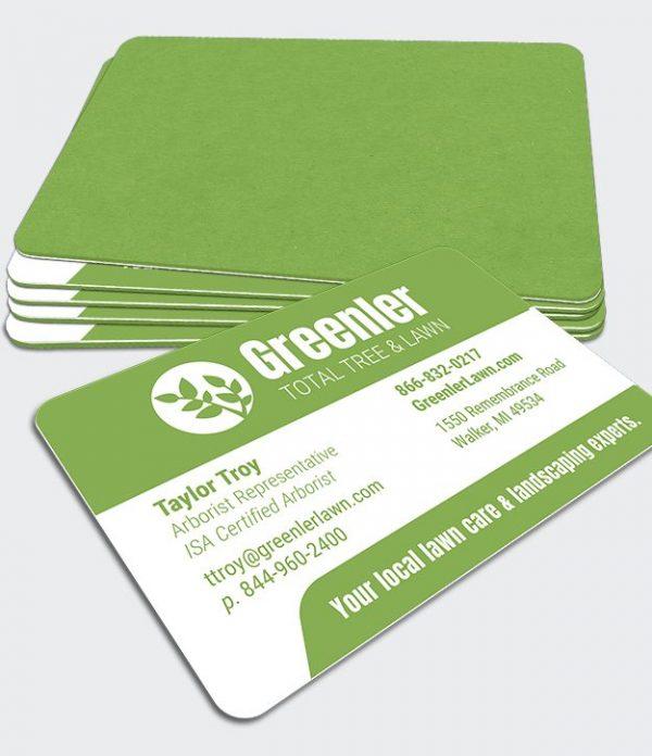 MultiLoft Gumdrop Green business card samples