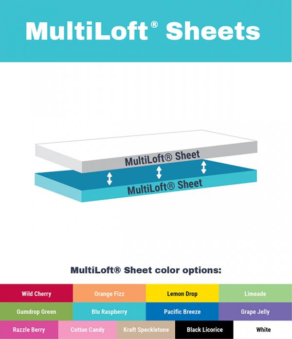 MultiLoft Sheets diagram and color options
