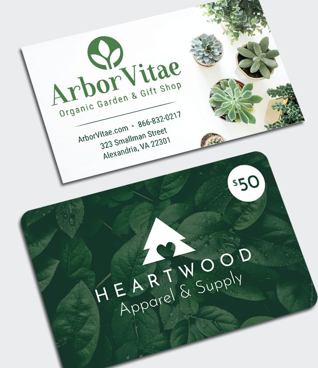 MultiLoft Elements Terra14 business card and gift card