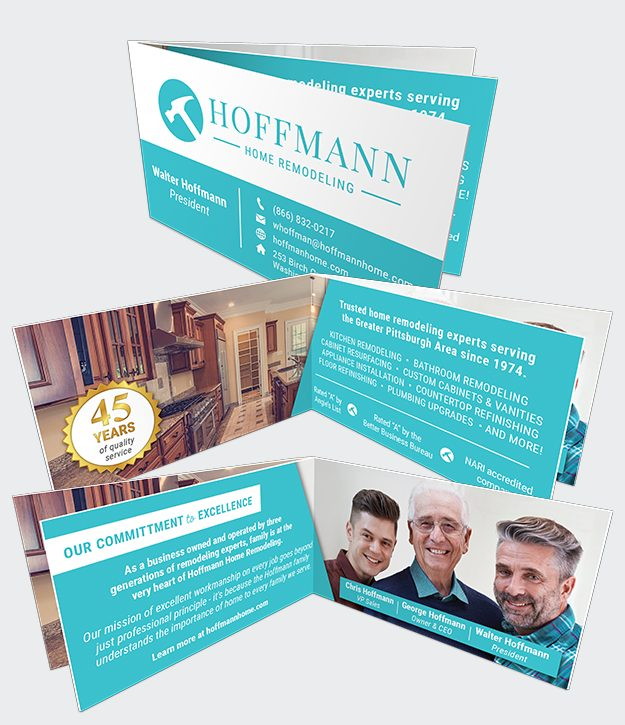 My Journey Card construction company business card sample