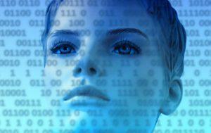 Woman watching data